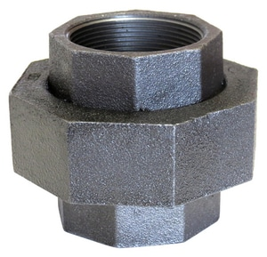 Ground Joint 300# Black Malleable Iron and Brass Union BLF300U