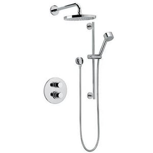 Fortis Milano Adjustable Slidebar Thermostatic Shower System Trim with Double Knob Handle F78KIT04