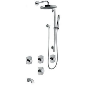 Fortis San Marco Thermostatic Tub and Shower System Trim with Four Knob Handle F89KIT06