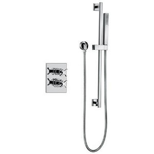 Fortis Siena Thermostatic Valve Trim with Double Cross Handle and Hand Shower F85KIT02