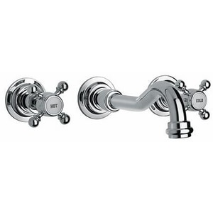 Fortis Caffe 3-Hole Bath Faucet with Double Cross Handle F8820700