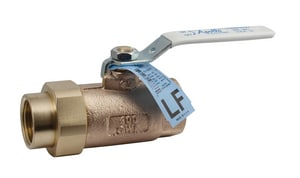 Apollo Conbraco 70LF-300 Series 600# Bronze Union Blowout-Proof Stem Standard Port Ball Valve with Lever Handle A70LF301