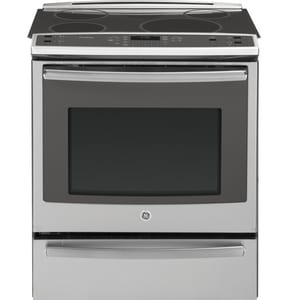General Electric Appliances 30 in. Slide-In Convection Range With Drawer in Stainless Steel GPHS920SFSS