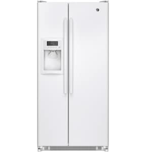 General Electric Appliances 31-1/2 in. 20 cf Freestanding Side-By-Side Refrigerator GGSS20ETH