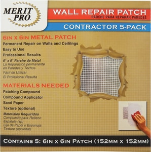 MG Distribution 6 in. Wall Repair Patch Contractor Pack MER03220