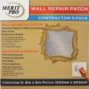 MG Distribution 8 x 8 in. Wall Repair Patch Contractor Pack M03225