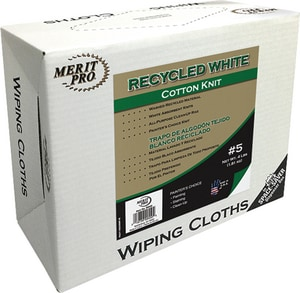 MG Distribution 5 lb Box of Recycled Cotton Knit Cloth in White M7402SS05MP