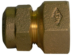 A.Y. McDonald CTS Compression x Female Copper Flared Threaded Brass Straight Coupling M74755Q