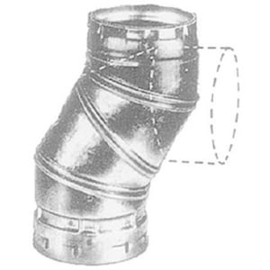 American Metal Products Type B GAS Vent Adjustable 90 Elbow ARAL