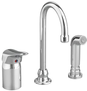 American Standard Monterrey® Remote Valve Kitchen Faucet with Single Lever Handle in Polished Chrome A6114301002