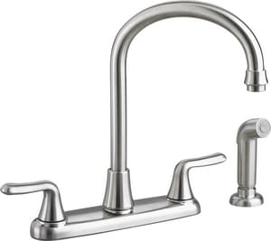 American Standard Colony® Soft 1.5 gpm 8 in. 2-Handle Deck Mount Kitchen Sink Faucet 360° Swivel Gooseneck Spout A4275551F15