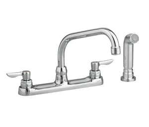 American Standard Monterrey™ 4-Hole Kitchen Faucet with Double Lever Handle Swivel Spout and Sidespray A6408141
