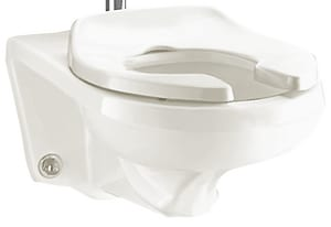 American Standard Afwall® Millennium™ 1.28 gpf Elongated Toilet A2296019EC