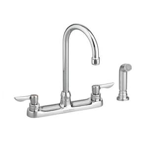 American Standard Monterrey® 1.5 gpm Double Lever Handle Faucet with Spray in Polished Chrome A6405141002