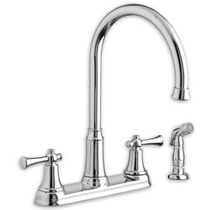 American Standard Portsmouth® 2.2 gpm 3 or 4-Hole Kitchen Faucet with Double Lever Handle A4285551