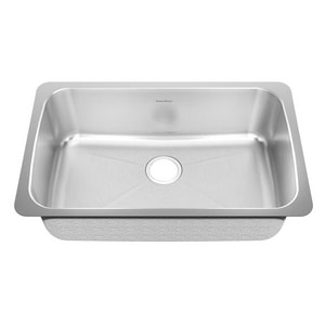 American Standard Prevoir™ No-Hole 1-Bowl Rectangular Kitchen Sink A14SB301900