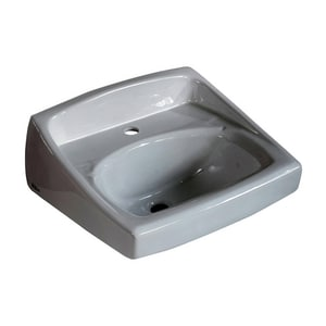 American Standard 1-Hole 1-Bowl Wall Mount Lavatory Sink in White A0356921020