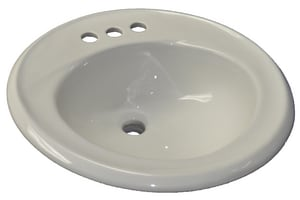 American Standard Kentucky™ 3-Hole Round Drop-In Lavatory Sink A0449008US