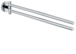 Grohe Essentials 18 in. Arm Towel Bar in Polished Chrome G40371000