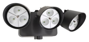 Lithonia Lighting 5-1/4 in. 2163 Lumen LED Security Flood Light in Bronze LOFLR9LN120PBZM2 at Pollardwater
