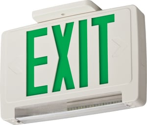 Lithonia Lighting 3W Thermoplastic Emergency Exit LECBGLEDM6