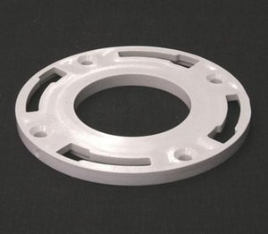 Plastic Oddities 4 in. PVC Closet Flange Ring PPSR4