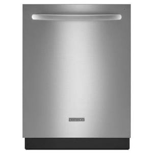 Kitchenaid 24 in. 15 Amp 6-Cycle 5-Option Dishwasher in Stainless Steel KKDTE104DSS