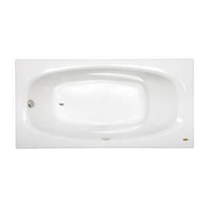 Jacuzzi Amiga® 72 x 36 in. 8-Jet Acrylic Oval in Rectangle Drop-In or Skirted Air Bathtub with Right Drain and J2 Basic Control JAMI7236ARL2XX