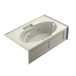 Jacuzzi Cetra® 60 x 32 in. Acrylic Rectangle Drop-In or Skirted Air Bathtub with Right Drain and J2 Basic Control JCTS6032ARL2XX