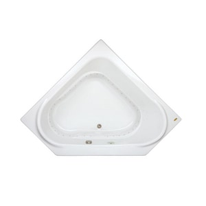 Jacuzzi Capella® 60 x 60 in. Acrylic Corner Drop-In Air Bathtub with Center Drain and J2 Basic Control JCAP6060ACL2XX