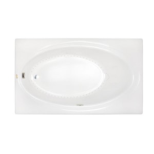 Jacuzzi Nova™ 72 x 36 in. Acrylic Oval in Rectangle Drop-In or Skirted Air Bathtub with Left Drain and J2 Basic Control JNVS7236ALR2XX
