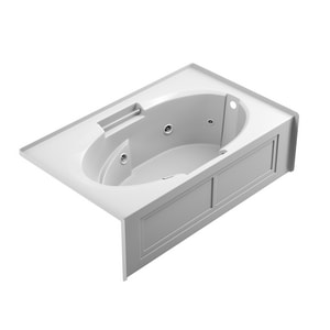 Jacuzzi Centra® 60 x 36 in. Acrylic Rectangle Drop-In or Skirted Air Bathtub with Right Drain and J2 Basic Control JCET6036ARL2XX