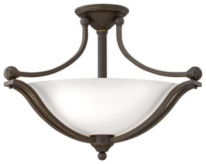 Hinkley Lighting 100W 3-Light Medium Semi-Flush Ceiling Light in Olde Bronze H4669OBOPAL