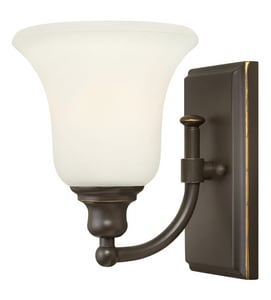 Hinkley Lighting Colette 100W 1-Light Wall Sconce in Oil Rubbed Bronze H58780OZ