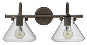 Hinkley Lighting Congress 9-3/10 in. 100W 2-Light Wall Mount Medium E-26 Bath Light H50026