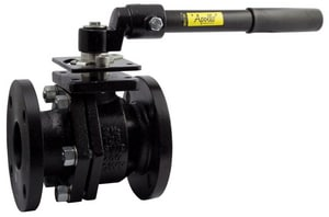 Apollo Conbraco Flanged Cast Iron Full Port Ball Valve with Gear Operator A6PLF2001