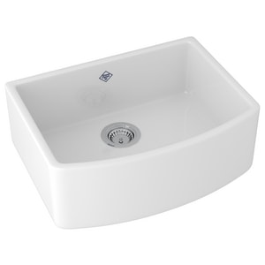 Rohl Shaws 1-Bowl Kitchen Sink in White RRC2321WH