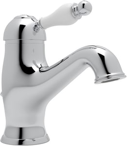 Rohl Cisal 1-Hole Deckmount Lavatory Faucet with Single Porcelain Lever Handle RAY51OP2