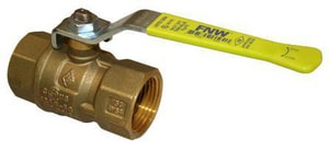 600# Threaded NPT Brass Full Port Ball Valve with Latch Lock Lever Handle FNW415LL