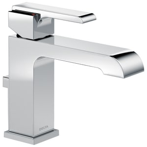 Delta Faucet Ara® 1.5 gpm Single Lever Handle Lavatory Faucet with 4 in. Plate D567LFTP