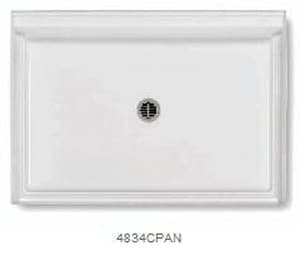 Aquatic Industries Everyday 48 x 34 in. Shower Base A4834PANWH