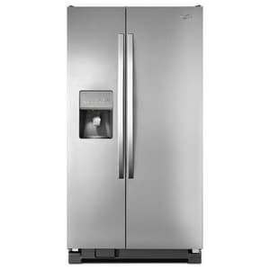 Whirlpool 35-1/2 in. 24.5 cf Freestanding Side-By-Side Refrigerator WWRS325FDA
