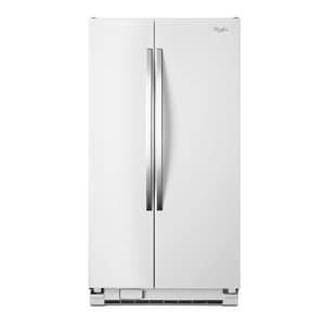 Whirlpool 35-1/2 in. 24.9 cf Freestanding Side-By-Side Refrigerator WWRS325FNA