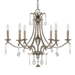 Capital Lighting Fixture Montclaire 60W 6-Light Candelabra Incandescent Chandelier C4395000CR