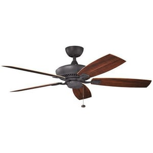 Kichler Lighting Canfield™ 52 x 13-1/2 in. 5-Blade Ceiling Fan KK310192DBK