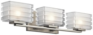 Kichler Lighting Bazely 50W 3-Light G9 Base Halogen Wall Sconce KK45479
