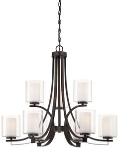 Minka-Lavery Parsons Studio 31-1/2 in. 9-Light Medium E-26 Base Chandelier M4109