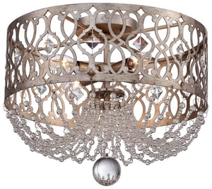 Minka-Lavery 12-3/4 x 16-1/4 in. Ceiling Light Fixture in Florentine Silver M4847276