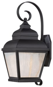The Great Outdoors Mossoro™ 26-3/4 in. 11W Wall Mount LED Lantern in Black M826766L
