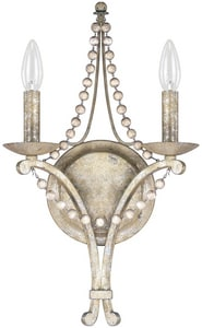 Capital Lighting Fixture Adele 60W 2-Light Candelabra E-12 Incandescent Wall Sconce in Silver Quartz C4442SQ000